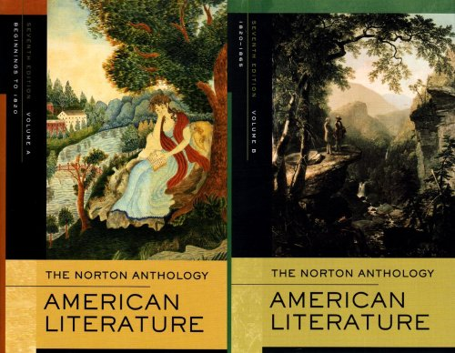 Norton Anthology of American Literature  7th 2007 edition cover