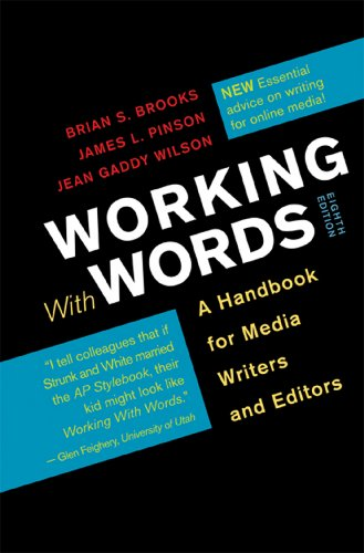 Working with Words A Handbook for Media Writers and Editors 8th 2013 edition cover