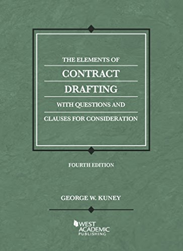 The Elements of Contract Drafting:   2014 edition cover