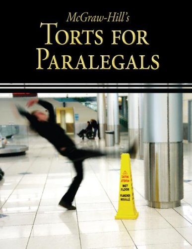 McGraw-Hill's Torts for Paralegals   2009 edition cover