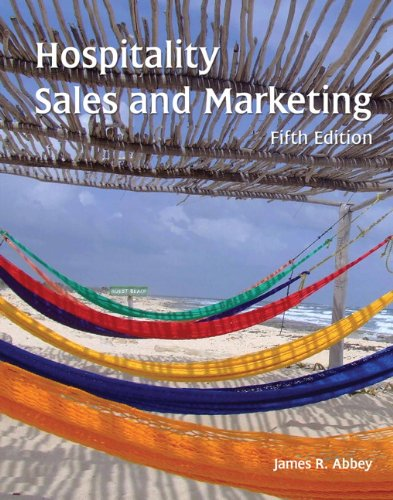 Hospitality Sales and Marketing (Ahlei):   2012 edition cover