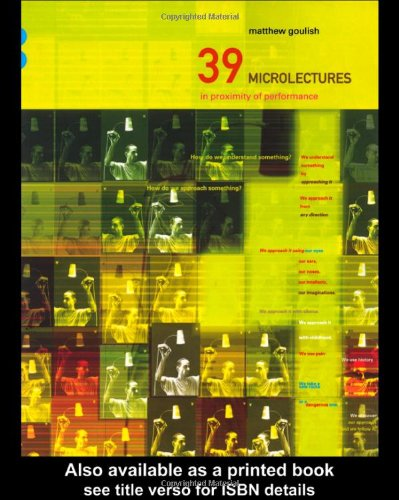 39 Microlectures In Proximity of Performance  2000 edition cover