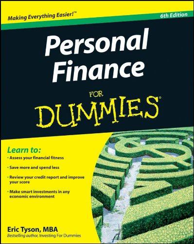 Personal Finance for Dummies  6th 2010 edition cover