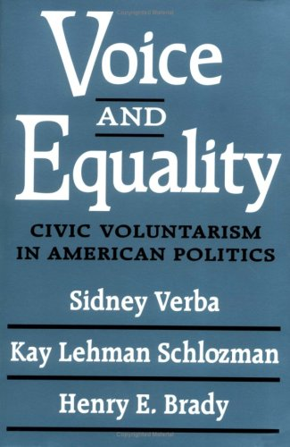 Voice and Equality Civic Voluntarism in American Politics  1995 edition cover