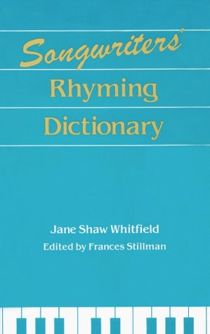 Songwriters' Rhyming Dictionary 1st edition cover