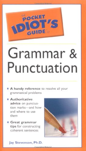 Pocket Idiot's Guide to Grammar and Punctuation   2005 edition cover