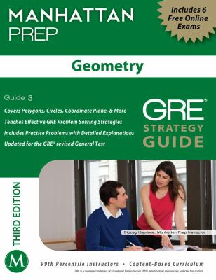 Geometry GRE Strategy Guide  3rd (Revised) 9781935707936 Front Cover