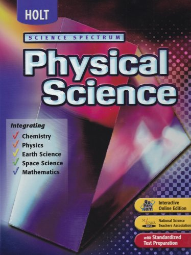 Holt Science Spectacular : Physical Science 6th (Student Manual, Study Guide, etc.) 9780030390937 Front Cover