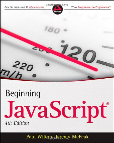 Javascript  4th 2010 edition cover