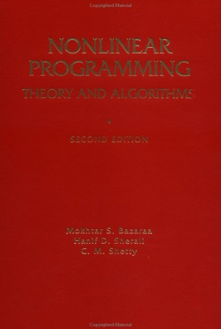 Nonlinear Programming Theory and Algorithms 2nd 1993 (Revised) 9780471557937 Front Cover