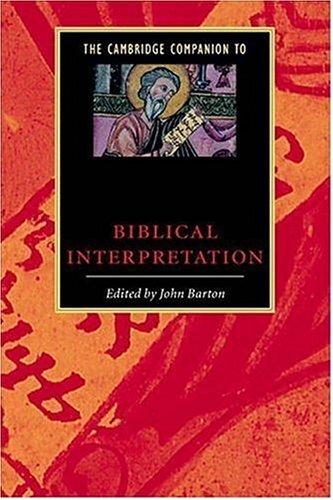 Cambridge Companion to Biblical Interpretation   1998 edition cover