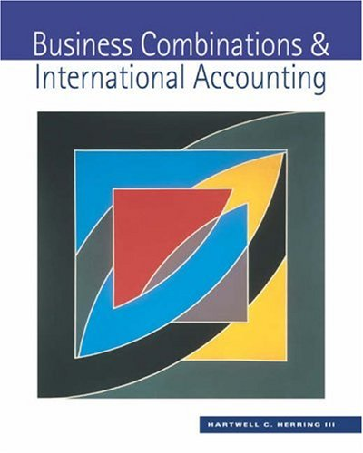 Business Combinations and International Accounting   2003 9780538878937 Front Cover