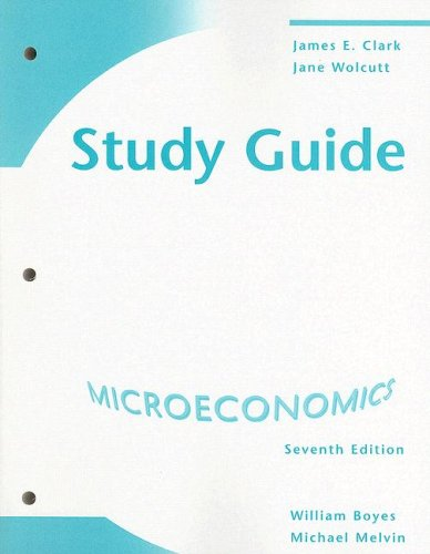 Microeconomics  7th 2008 (Student Manual, Study Guide, etc.) 9780618831937 Front Cover