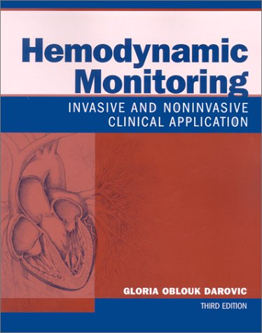 Hemodynamic Monitoring Invasive and Noninvasive Clinical Application 3rd 2002 (Revised) edition cover