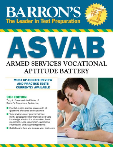 Barron's ASVAB, 10th Edition  10th 2012 (Revised) edition cover