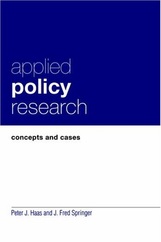 Applied Policy Research Concepts and Cases  1998 edition cover