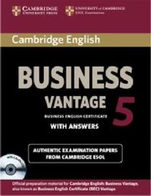 Cambridge English Business Certificate. Vantage 5 Self Study Pack. Con CD-Audio  N/A 9781107606937 Front Cover