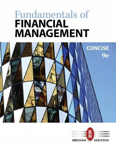 Fundamentals of Financial Management: Concise Edition  2016 9781305635937 Front Cover