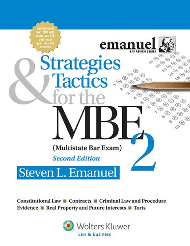 Strategies & Tactics for the MBE 2 (Multistate Bar Exam):   2012 edition cover