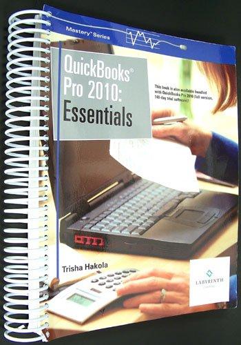 QUICKBOOKS PRO 2010:ESSENTIALS N/A edition cover