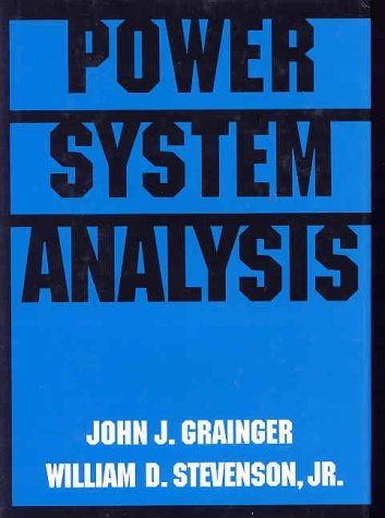 Power System Analysis   1994 edition cover