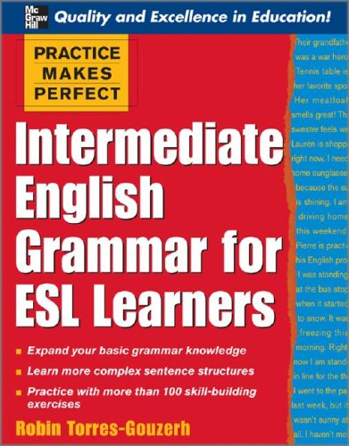 Intermediate English Grammar for ESL Learners   2008 edition cover