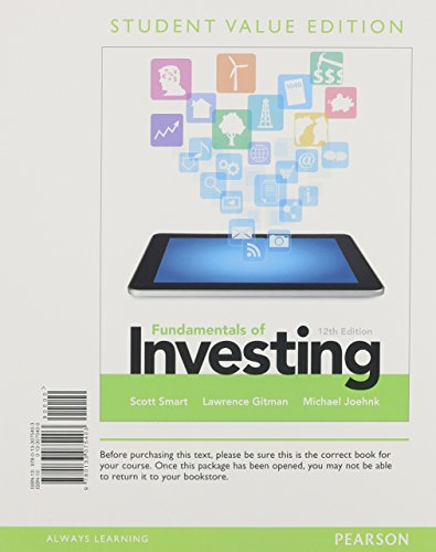 Fundamentals of Investing  12th 2014 (Student Manual, Study Guide, etc.) edition cover