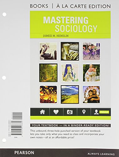 Mastering Sociology Books a la Carte Plus MySocLab -- Access Card Package   2014 edition cover