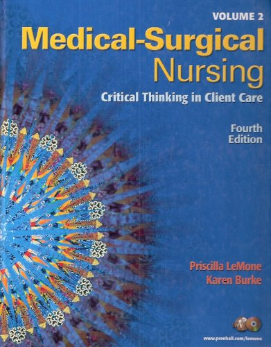 Medical Surgical Nursing: Critical Thinking in Client Care  2008 9780135135938 Front Cover