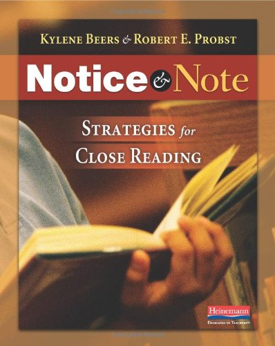 Notice and Note Strategies for Close Reading  2012 9780325046938 Front Cover
