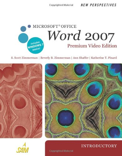 New Perspectives on Microsoft Office Word 2007, Introductory, Premium Video Edition   2011 9780538475938 Front Cover