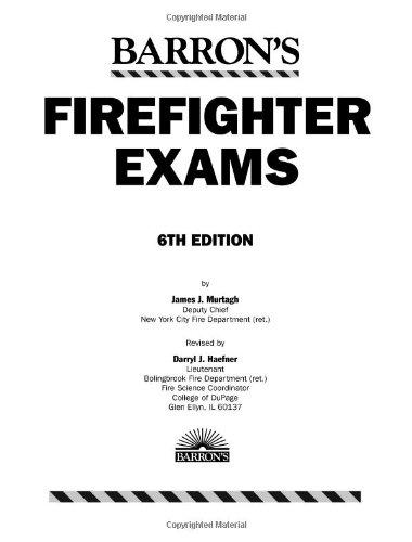Barron's Firefighter Exams  6th 2009 (Revised) edition cover