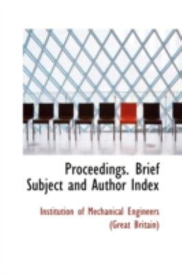 Proceedings Brief Subject and Author Index  2009 edition cover