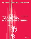 Core Concepts of Accounting Information Systems:   2014 edition cover