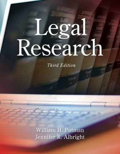 Legal Research  3rd 2015 9781285439938 Front Cover