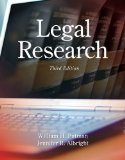 Legal Research  3rd 2015 edition cover