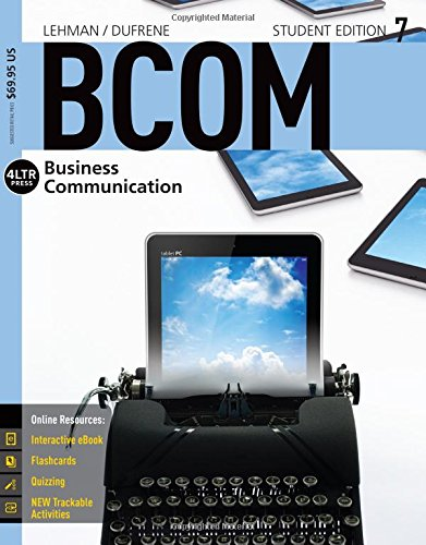 Business Communications 7:  7th 2015 9781305401938 Front Cover