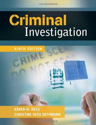 Criminal Investigation  9th 2010 edition cover