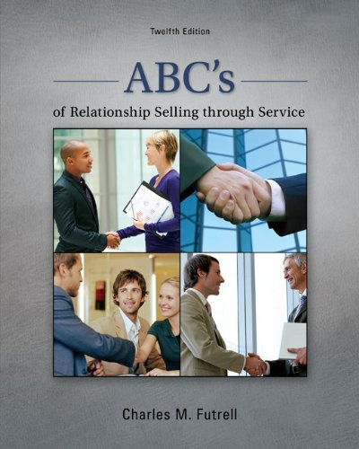 ABC's of Relationship Selling Through Service  12th 2013 edition cover
