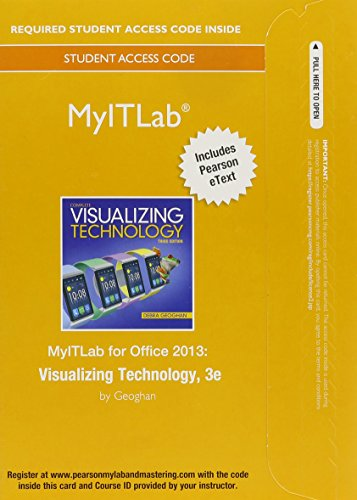 MyITLab with Pearson EText -- Access Card -- for Visualizing Technology  3rd 2015 9780133880939 Front Cover