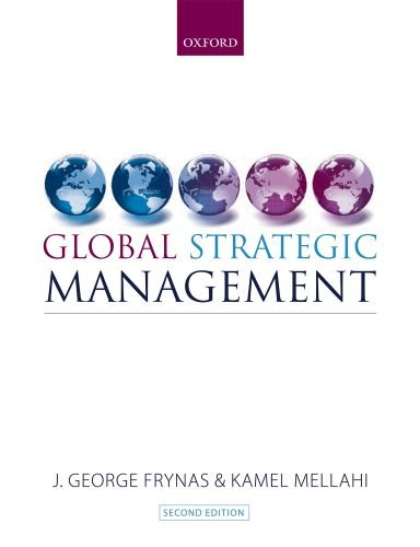 Global Strategic Management  2nd 2010 9780199543939 Front Cover