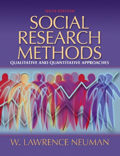 Social Research Methods Qualitative and Quantitative Approaches 6th 2006 (Revised) edition cover