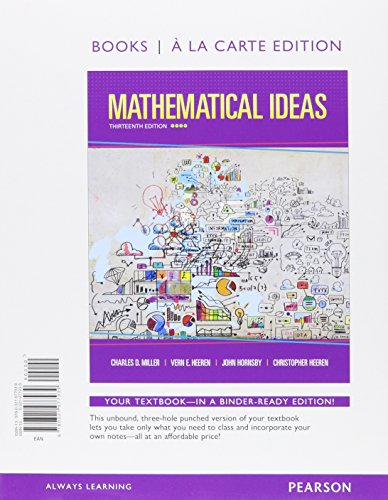 Mathematical Ideas: Books a La Carte Edition  2015 edition cover