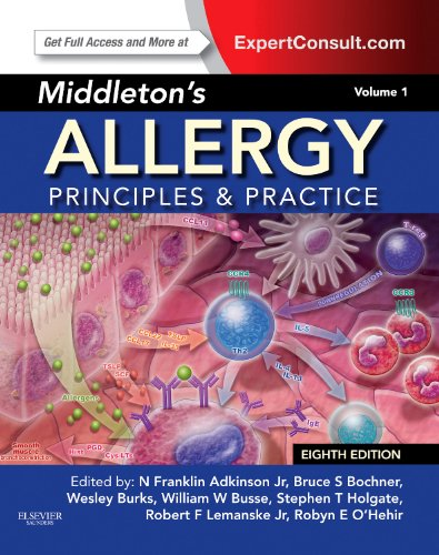 Middleton's Allergy Principles and Practice 8th 2014 edition cover