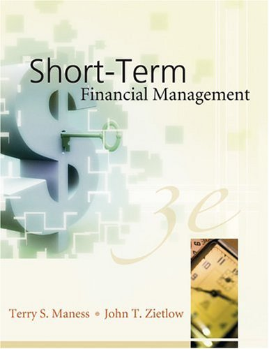 Short-Term Financial Management  3rd 2005 (Revised) edition cover