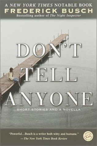 Don't Tell Anyone  Reprint  edition cover