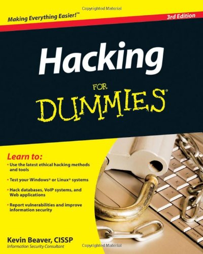Hacking for Dummies  3rd 2010 9780470550939 Front Cover