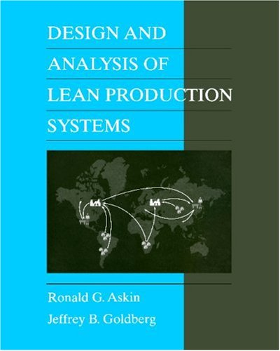Design and Analysis of Lean Production Systems   2002 edition cover
