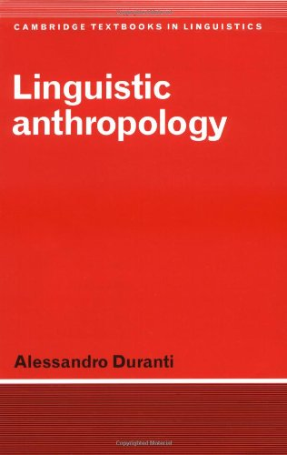 Linguistic Anthropology   1997 edition cover