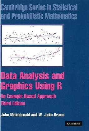 Data Analysis and Graphics Using R An Example-Based Approach 3rd 2010 (Revised) edition cover